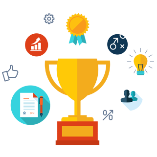 Trophy image to represent the process dodio uses