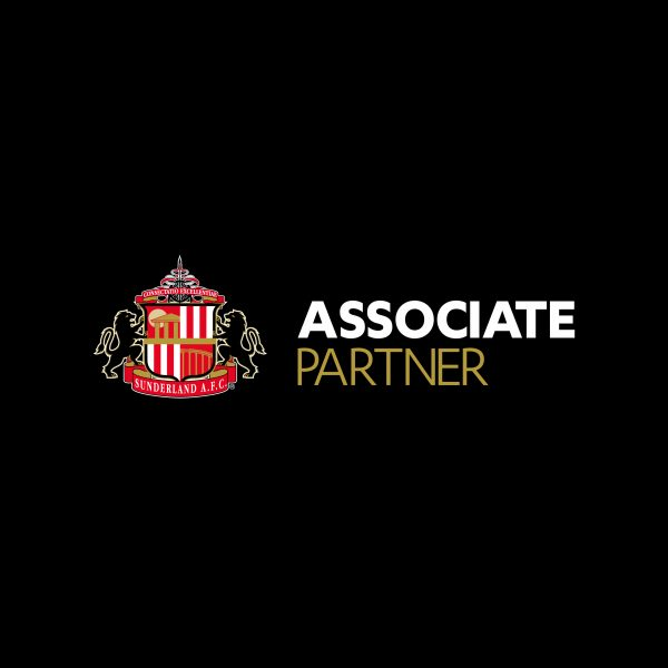 Sunderland AFC Associate Partner logo in black