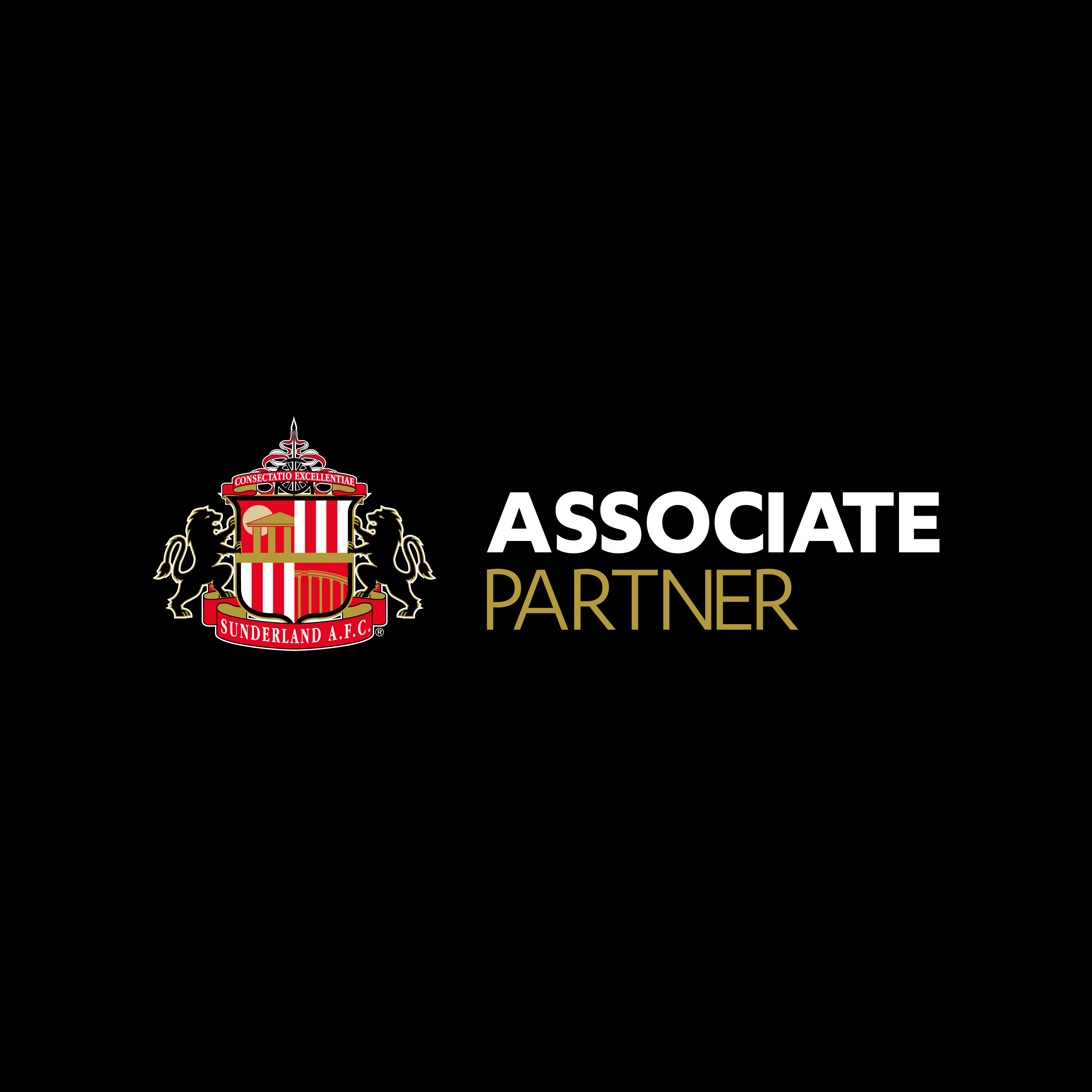 Sunderland AFC Associate Partner logo in black