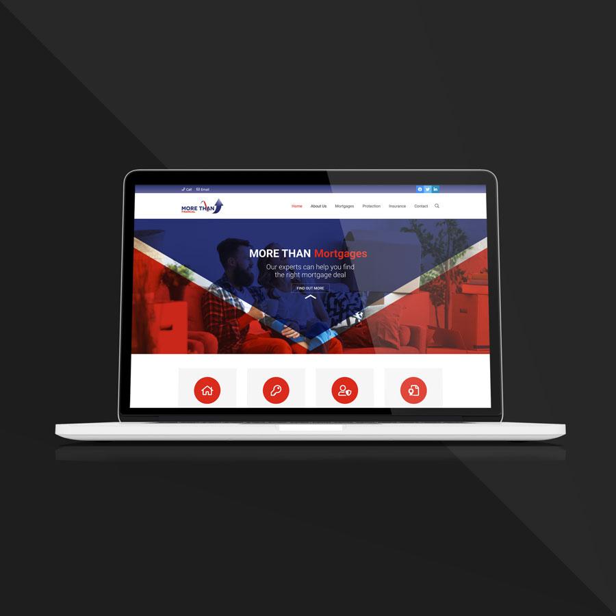 More Than Financial website on Macbook screen